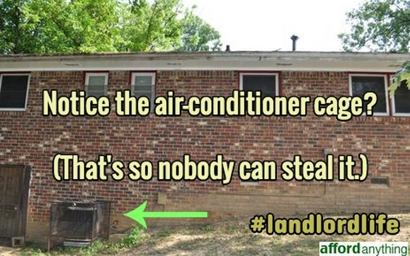 cage your air conditioner - real estate investing lesson