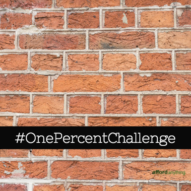 Take the one percent challenge to save money next year