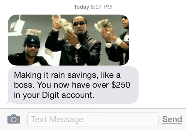 Digit -- And the Most Awesome Text Message Ever