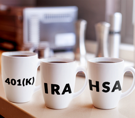 Your 401k IRA and HSA are like coffee mugs, while the investments are the coffee itself.