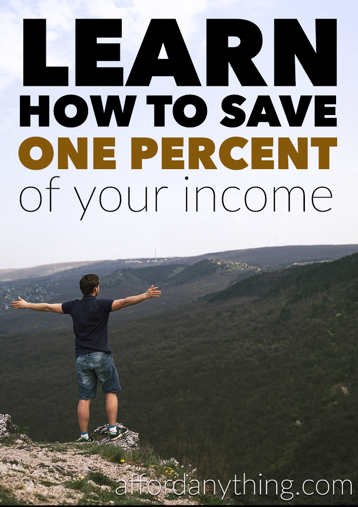 Wish you could save more? Why not take it one step at a time with the one percent challenge? Saving just 1% of your income isn't that hard-we prove it!