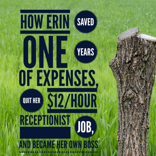 how erin saved one year of expenses