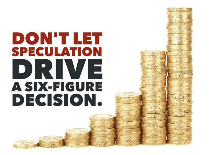 Don't let speculation drive your financial decisions
