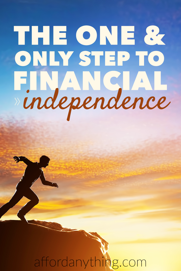 The road to financial independence comes from focusing on the gap between your income and spending. Do this one thing, and everything else falls into place.